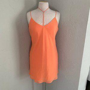 Beautiful Orange Naked Zebra dress